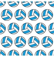 Seamless pattern of volleyball sports balls vector image