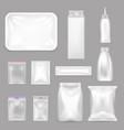 blank food packaging realistic set vector image
