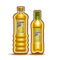 2 yellow bottles with corn oil vector image vector image