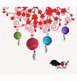 abstract chinese new year lantern and background vector image vector image