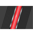 abstract red metal line center gray shutter design vector image vector image