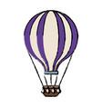 airballoon adventure recreational fly basket vector image