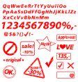 alphabet numbers vector image vector image