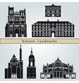 Amiens landmarks and monuments vector image vector image