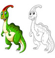 animal outline for happy dinosaur vector image vector image