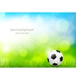 Background with soccer ball vector image