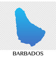 barbados map in north america continent design vector image vector image