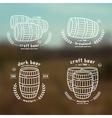 Barrel homebrew emblems vector image vector image