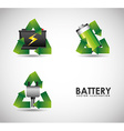 battery concept vector image vector image
