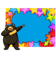 bear on party template vector image vector image