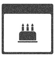 Birthday Cake Calendar Page Grainy Texture Icon vector image vector image
