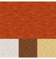 Brick wall backgrounds vector image vector image