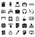 cafe icons set simple style vector image