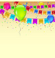 carnival garland with pennants confetti vector image