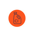 chlorine line icon on white vector image