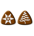 christmas gingerbread cookies vector image