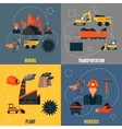 Coal industry flat set vector image vector image