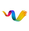 colorful abstract brush stroke on white background vector image