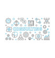 consulting horizontal business outline vector image