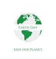 Earth Day textile realistic Label Design vector image