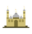 east style islamic mosque building design vector image