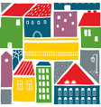 endless colorful background with old houses in the vector image vector image