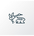 fauna icon line symbol premium quality isolated vector image