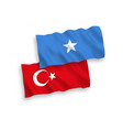 flags turkey and somalia on a white background vector image