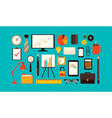 flat business items vector image vector image