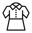 girl school dress icon outline style vector image vector image