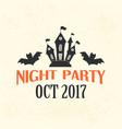 halloween night party emblem template logo badge vector image vector image