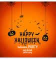 Happy halloween text banner with spiders
