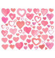 hearts icons hand drawn for valentines day vector image vector image
