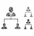 human hierarchy mosaic icon inequal parts vector image vector image