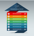 Infographic arrow design template with 7 options vector image