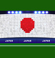 japan soccer or football stadium background vector image vector image