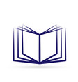 knowledge book logo icon vector image vector image
