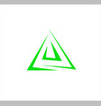 logo abstract line in triangle form for vector image