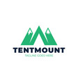 logo mountains in style m or a and camping vector image