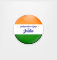 made in india of banner and badge vector image vector image