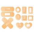 medical adhesive bandage plasters set icon vector image