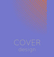 minimalistic colorful abstract cover vector image vector image