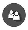 people communication icon in flat style people vector image vector image
