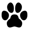 Pet paw symbol simple black dog or cat footprint
