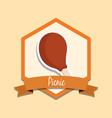 picnic emblem design vector image vector image