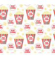popcorn seamless pattern endless texture vector image vector image