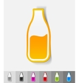 realistic design element milk vector image vector image