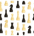 realistic detailed 3d wooden chess pieces seamless vector image vector image