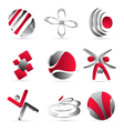 Red business icons design vector image