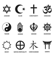 religious sign and symbols vector image vector image